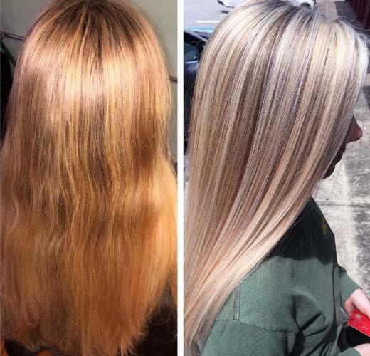 Shampoo para cabello naranja