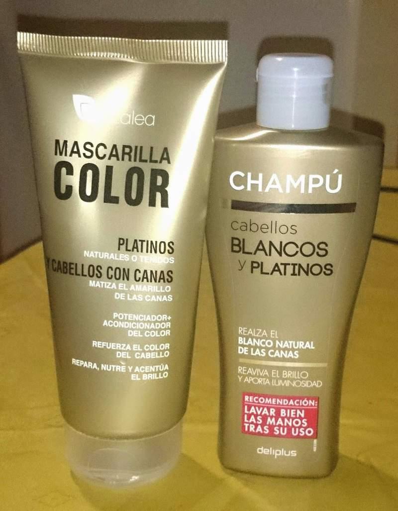 Champu azul para cabellos blancos