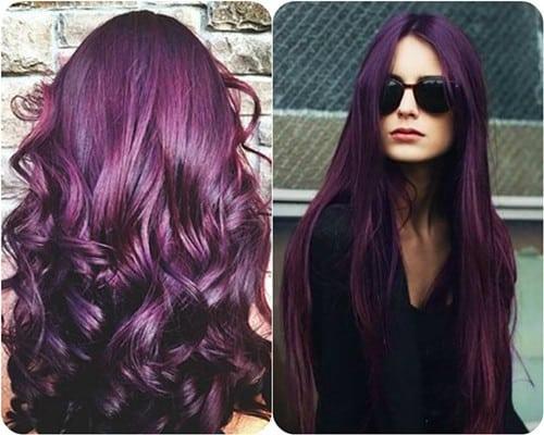 Como tenir el pelo de color purpura